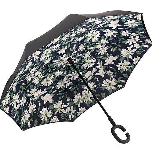 Invertierter Regenschirm, Blumen