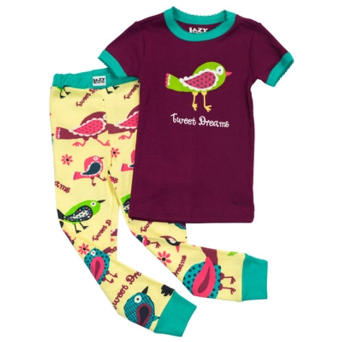 Tweet Dreams Kurzarm Pyjama Kind