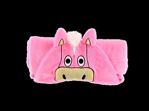 Pinkes Pferd Fleece Decke