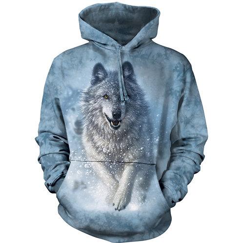 HOODIE - Wolf im Schnee