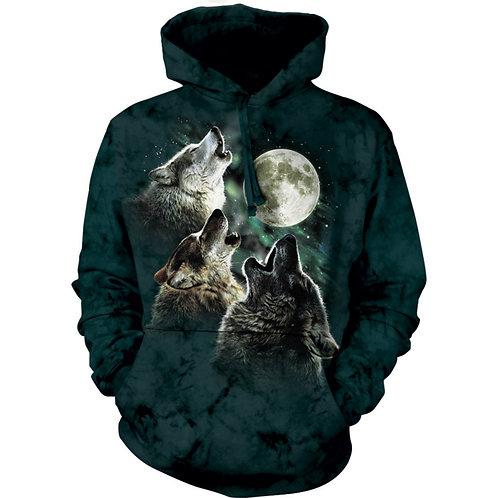 HOODIE - Drei Wölfe mit Mond