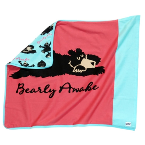 Bearly Awake Kopfkissenüberzug, pink/hellblau