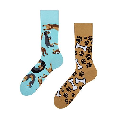 Dachshund Gute Laune Socken, Erwachsene