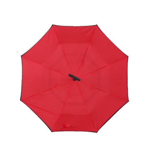 Invertierter Regenschirm, rot