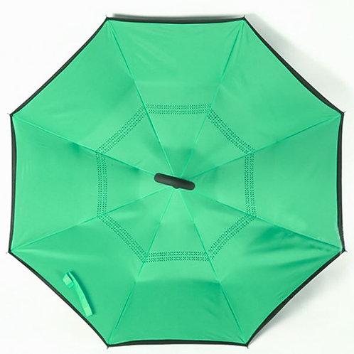Invertierter Regenschirm, apfelgrün