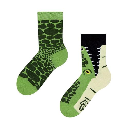 Krokodil Gute Laune Socken, Kind