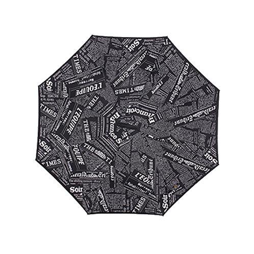 Invertierter Regenschirm, Zeitung