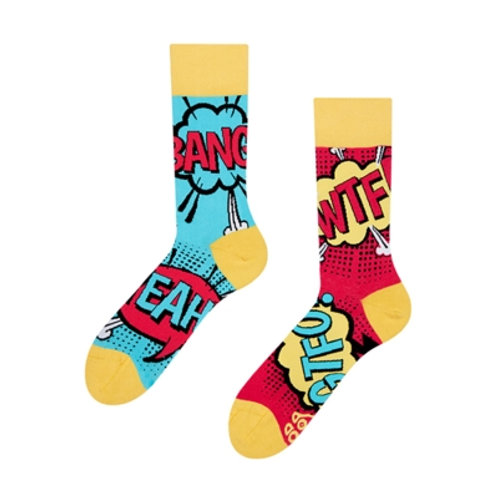 Comic-Streifen Gute Laune Socken, Erwachsene