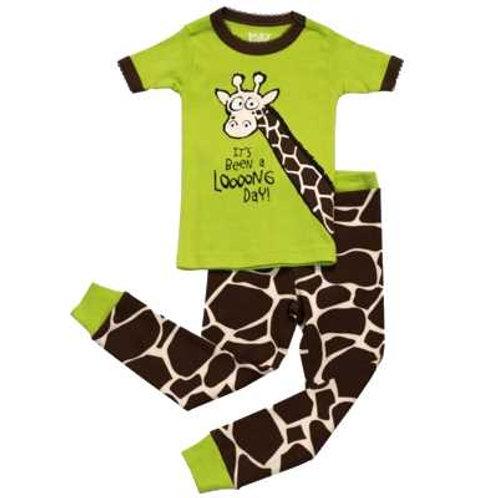 Looong Day Giraffe Kurzarm Pyjama Kind