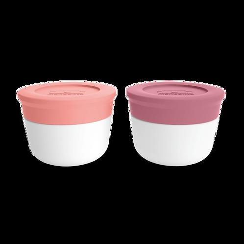 Saucendosen-Set S, Flamingo-Pink & Blush-Pink