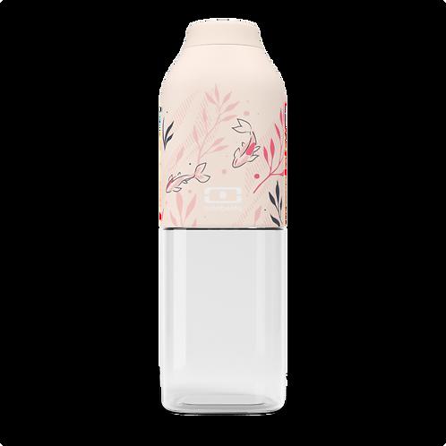 50 ml Trinkflasche aus Tritan, obere Hälfte mit einer crème-farbigen Beschichtung mit kleinen Koi-Karpfen Motiven