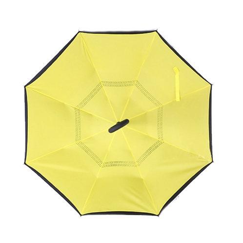 Invertierter Regenschirm, gelb