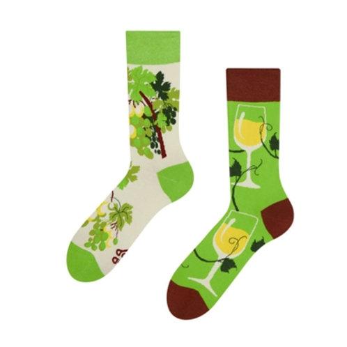 Weisswein Gute Laune Socken, Erwachsene