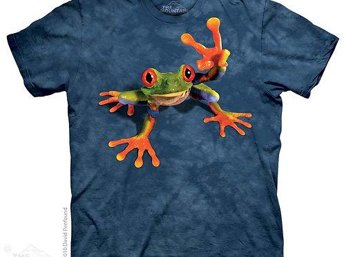 Frosch mit Siegeszeichen