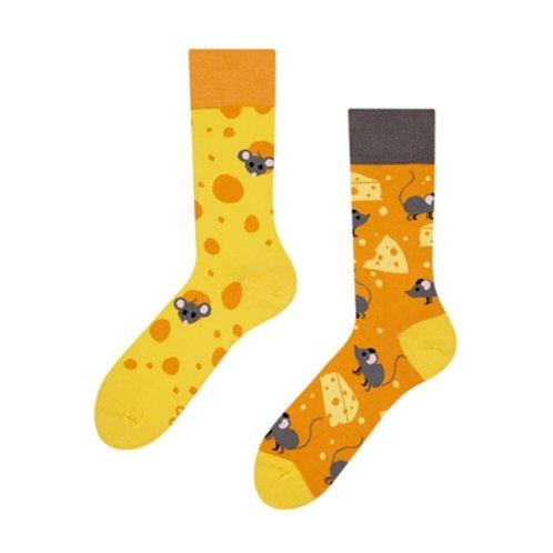 Käse und Mäuse Gute Laune Socken, Erwachsene