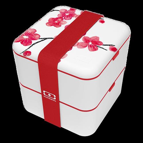 MB Square Bento-Box, Graphic Edition, Blossom