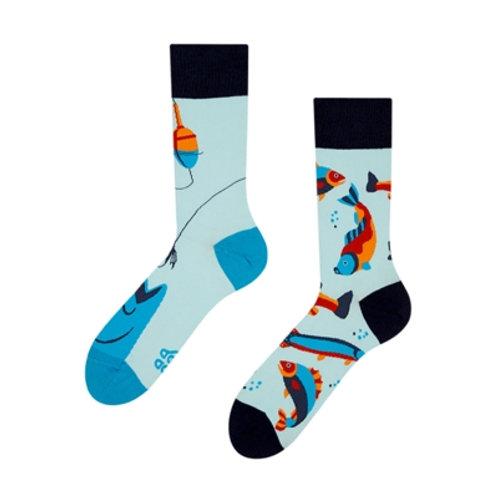 Fischen Gute Laune Socken, Erwachsene