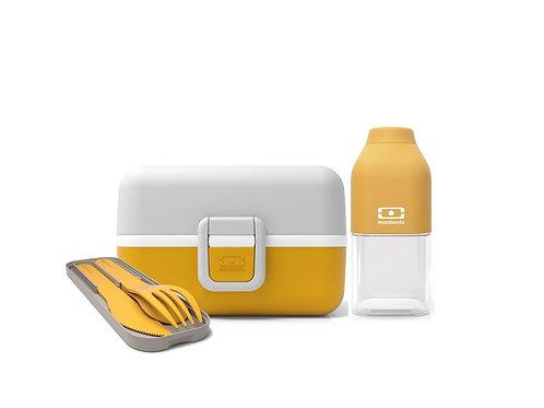 KLEINER GOURMET Set für Kinder, Senf-Gelb & Coton