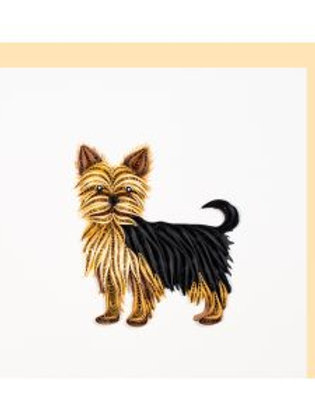 Paper Quilling Karte, Yorkshire Terrier