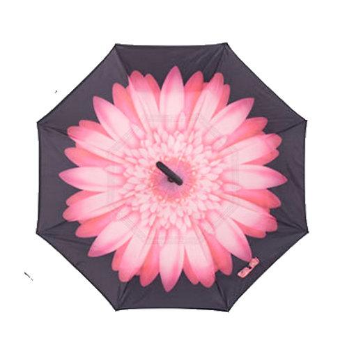 Invertierter Regenschirm, Rosa Blume