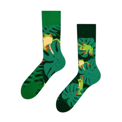 Frösche Gute Laune Socken, Erwachsene