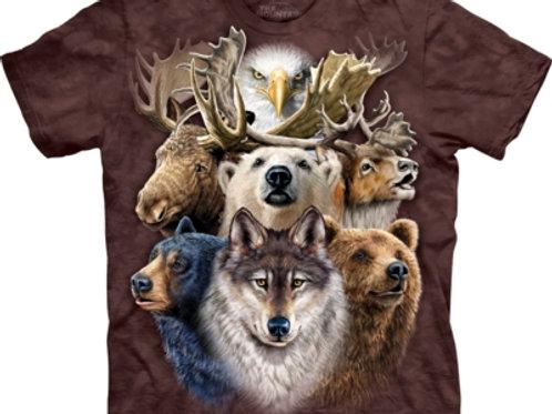 Nördliche Tiere Collage
