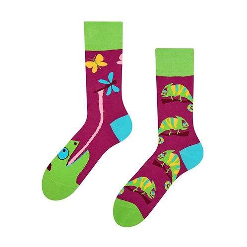 Chamäleon Gute Laune Socken, Erwachsene