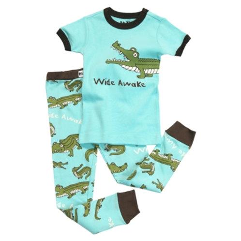 Wide Awake Krokodil Kurzarm Pyjama Kind