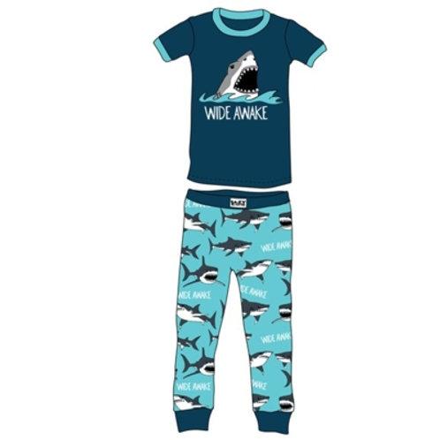 Wide Awake Hai Kurzarm Pyjama Kind