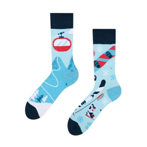 Skifahren Gute Laune Socken, Erwachsene