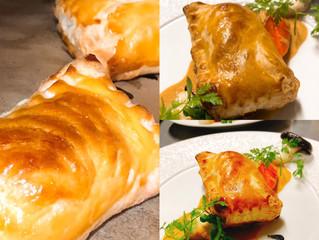 真鯛のパイ包み焼き ワタリガニのソース