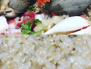 魚介と玄米のリゾット