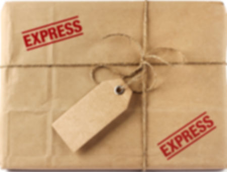 Brown mail package parcel wrap express d