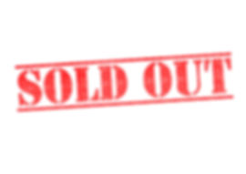 SOLD OUT red rubber stamp over a white b