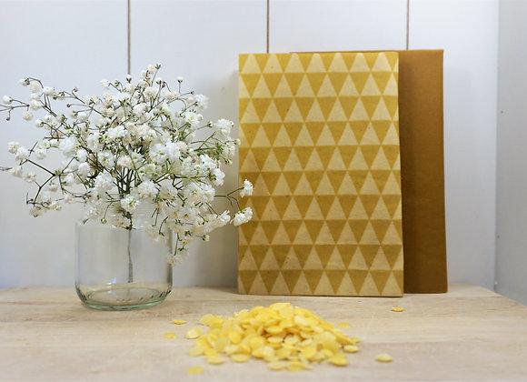 ToGo-Set gelb - Bienenwachstücher 2 Stück