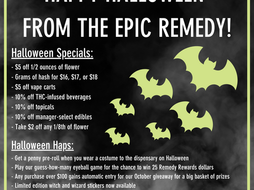 Halloween Happenings At The Epic Remedy