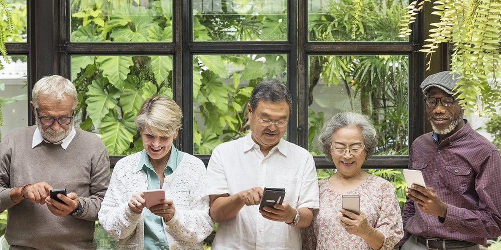 Elderly people using technology and pers devices to age in place