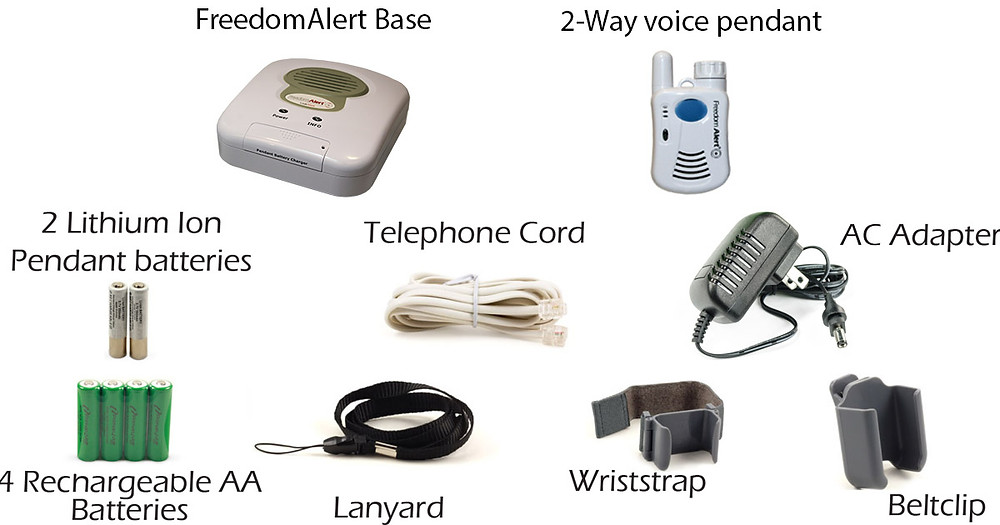 Everything included in your FreedomAlert PERS Device kit