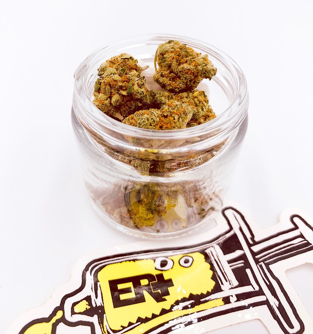 Green Crack Flowers in a Jar by The Epic Remedy