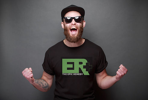 Man wearing Epic Remedy apparel