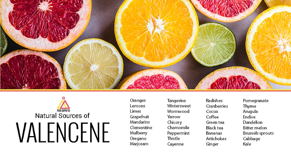 Natural sources of valencene terpene isolate