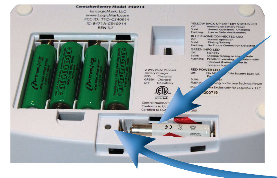 CaretakerSentry Battery Install