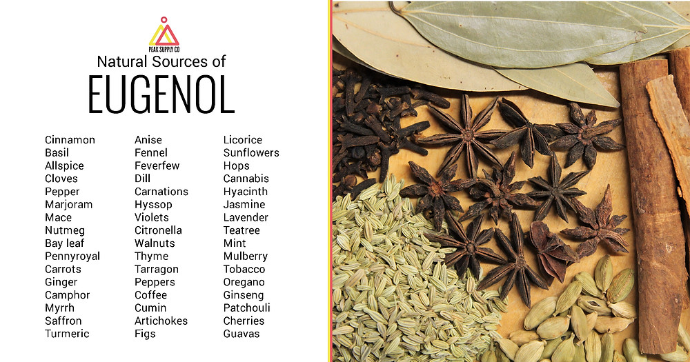 natural sources of eugeneol terpene isolates
