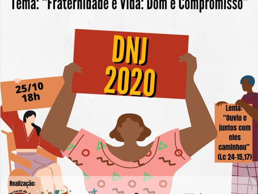 Juventudes celebram pela web DNJ 2020 neste domingo 25 de Outubro