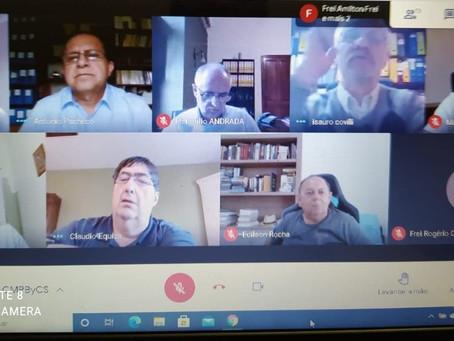 Ministros e Custódios OFM da CFMB e Cone Sul realizaram encontro virtual nesta tarde