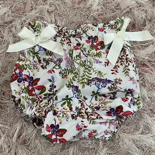 White Floral Bloomers