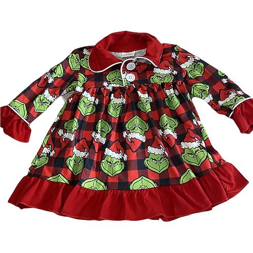 Girls Christmas Grinch Nightdress