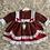 Thumbnail: Red Tartan Lace Dress