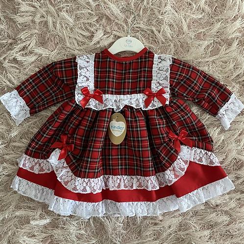 Red Tartan Lace Dress