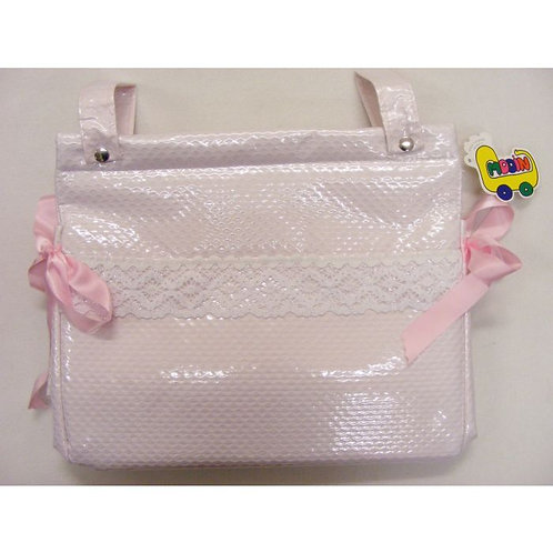 Pink Plastic Coated Changing Bag